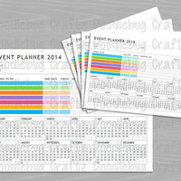 The EASY Life Event Organizer Planner - At a Glance - INSTANT DOWNLOAD - To Do List, Tasks, Shopping List, Calendar, Wedding, Travel, Party