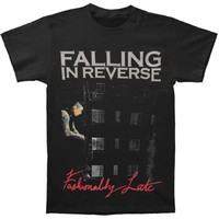 Falling In Reverse Men's Fashionably Late Album T-shirt Black