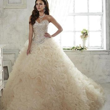 Quinceanera Collection - 26806 Strapless Beaded Sweetheart Ballgown