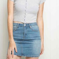 Brandy Melville Denim Skirt (new!)($ 20) - Mercari: Anyone can buy & sell