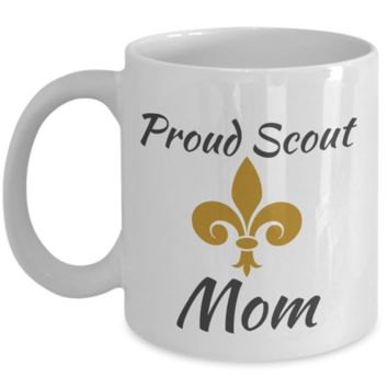 Proud Scout Mom Yellow Mug