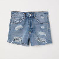 Mom Fit Denim Shorts - from H&M