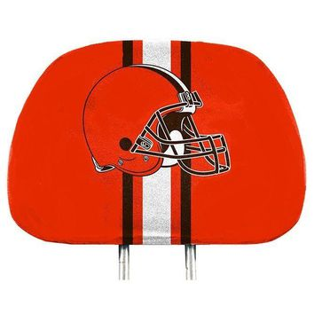 Cleveland Browns 2-Pack Color Print Auto Car Truck Headrest Covers