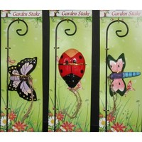 """Bug Design Plant Pick 10.5"""" , (Butterfly, Dragonfly or Lady Bug)"""