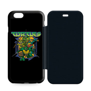 Ninja Turtles Movie Leather Wallet Flip Case iPhone 6 | 6S