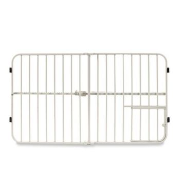 Carlson Big Tuffy Expandable Pet Gate with Small Door