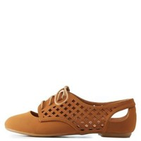 Laser-Cut Latticed Cut-Out Oxfords