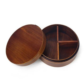 Japanese Bento Boxes Wood  Lunch Box  Sushi Portable Food Container wood Food Container