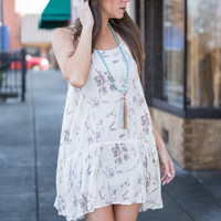 Floral Victories Dress, Natural