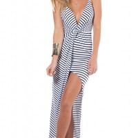 In A Twist maxi dress in white stripe | SHOWPO Fashion Online Shopping