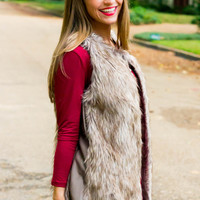 Faux Fur Vest- in stock!