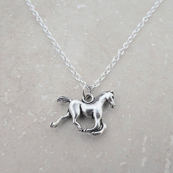 HORSE NECKLACE  -  quality jewelry, personal gift, I Love My Dog Jewelry, equine, horse lover gift, cowgirl gifts, good cause, under 20
