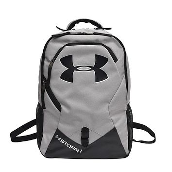 Under Armour New Tide brand men and women fitness training bag casual outdoor backpack grey