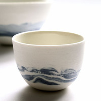 The Blue Plateau - Olive bowl set