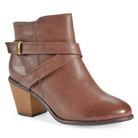 Aeropostale  Strappy Faux Leather Bootie