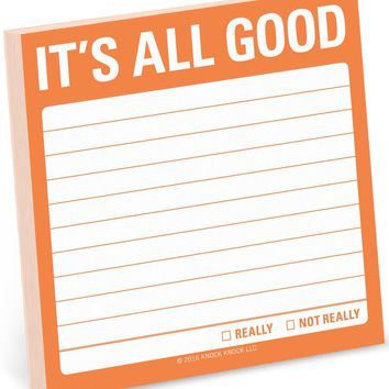 It's All Good Sticky Notepad