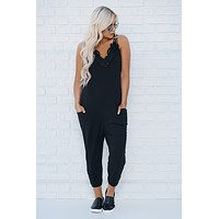 Better Than Your Birthday Suit Jumpsuit (Black)
