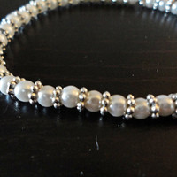Pearl bracelet with sterling
