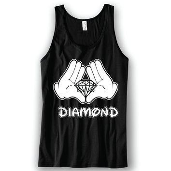 Diamond Hands Mickey Unisex Tank Top Funny and Music
