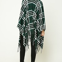 Fringed Plaid Shawl