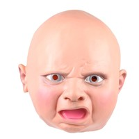 Halloween New Latex Angry Baby Costume Mask Full Head Party Masks Mascara Villain Joke Mask Free Shipping