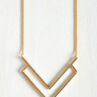 Minimal Chevron Your Mark, Get Set Necklace by ModCloth