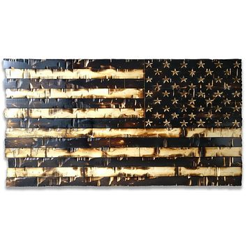 Patriot Guard Edition American Flag for vertical mounting 59x32