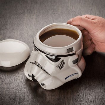 Ceramic Creative  Star Wars  Mug Black White Special Style  Porcelain Drinking Mug For Coffee Water