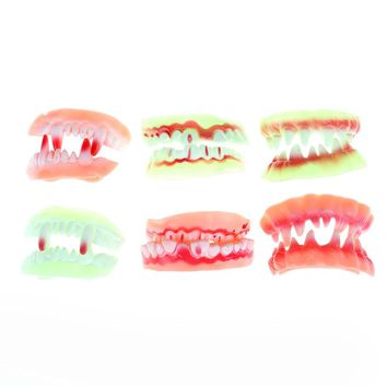 2styles Luminous Vampire Fake Teeth Dracula Teeth Halloween Monster Werewolf Zombie Fangs Masquerade Cosplay Costume Prop