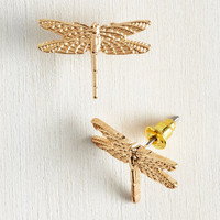 Critters Dragonfly By Earrings by ModCloth