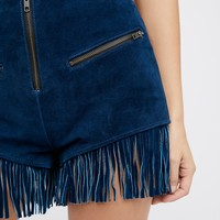 Free People Stick 'Em Up Suede Short