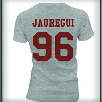 Jauregui 96 Maroon Ink on Front Lauren Jauregui Unisex T-shirt Women