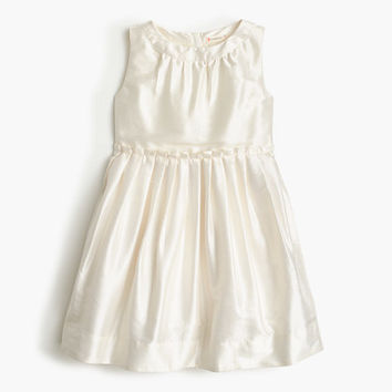 crewcuts Girls Pleated Dress In Silk Dupioni