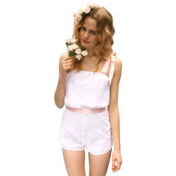 Loulou Loves You cotton playsuit