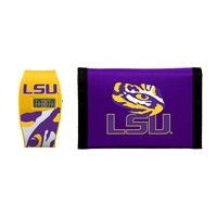 LSU Tigers Lil' Sport Watch & Trifold Wallet Gift Set - Kids (Lsu Team)
