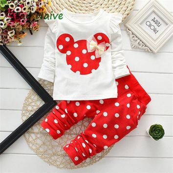 Polka Dot Mouse Top + Pants Set
