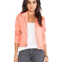 Jack by BB Dakota Izzy Moto Jacket in Coral
