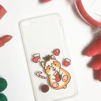 Christmas Corgi phone case, Christmas Phone Case, iPhone 7 case, iPhone 6s case, Samsung Galaxy S7 Edge Case,iPhone 8 Case, iPhone X Case