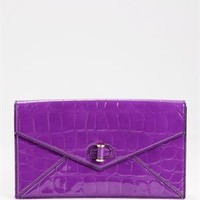 Alexander McQueen Izzie Stamped Crocodile Patent Clutch - Made In Italy - Luxury Handbags under $399: Gucci, Jimmy Choo, Judith Leiber And More - Modnique.com