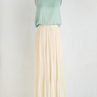 ModCloth Long Sleeveless A-line Pleats, Do Tell Dress