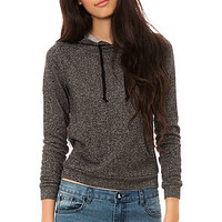 All Day Hoody Pullover in Speckle Black