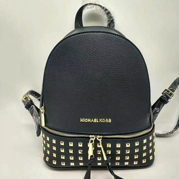 Michael Kors Women Leather Bookbag Shoulder Bag Handbag Backpack-6