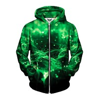 Green Spirits Zip-Up Hoodie