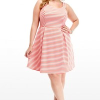 Plus Size Kimmy Striped Flare Dress | Fashion To Figure