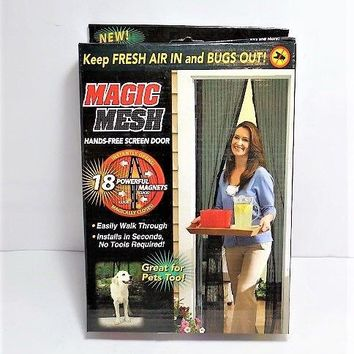 Magic Mesh Hands-Free Screen Door magnets
