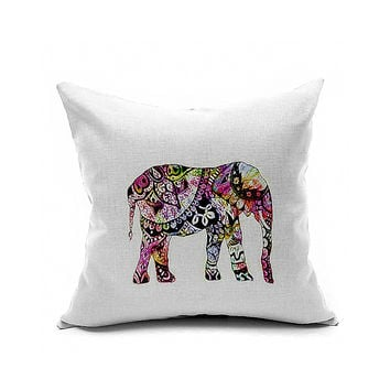 Cotton Flax Pillow Cushion Cover Animal   DW157