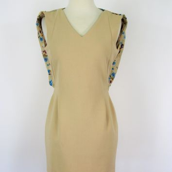Monday to Sunday Chiffon Back Drape Fitted Dress M NWT