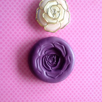 Rose Flexible Silicone push Mold/ Wedding Topper Polymer Fondant Cake Decoration Cupcake Topper Scrapbook Candy Making Food