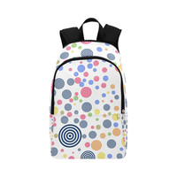 colorful circles 01 Fabric Backpack for Adult (Model 1659) | ID: D2718591