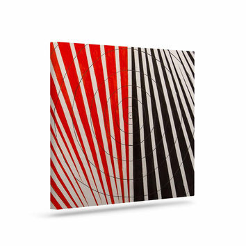 "NL Designs ""Optical Illusions"" Red Black Canvas Art"